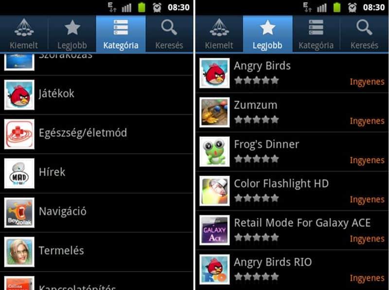 android alkalmazások