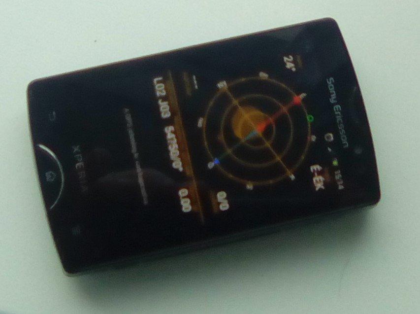 Iránytű online Androidos telefonnal