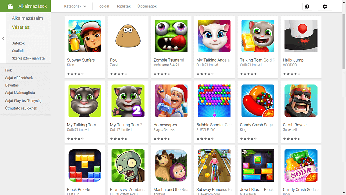 Android játékok