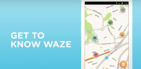 Waze élő térkép