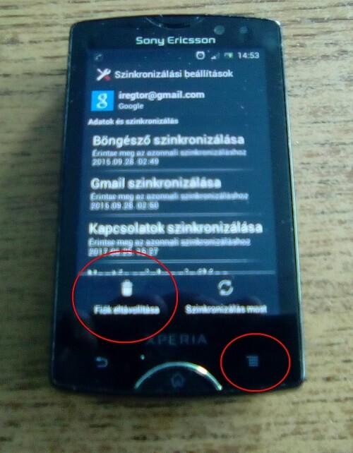 google fiók törlése android