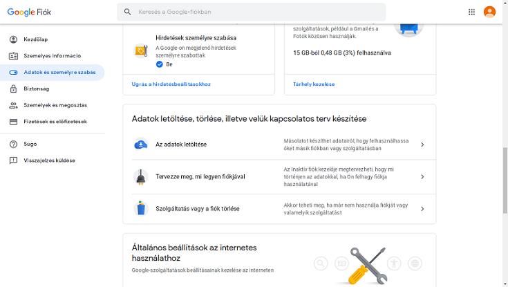 Google fiók törlése véglegesen