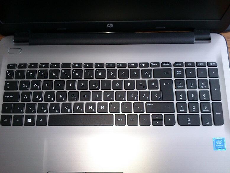 billentyűzet részei laptop