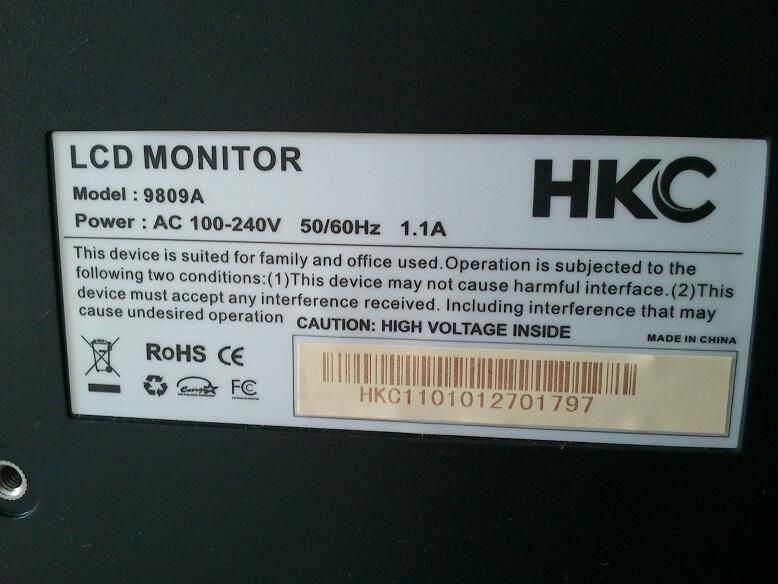 monitor kalibrálás hátulja
