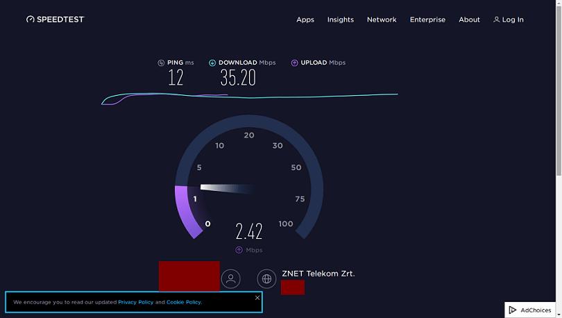internetes sebességmérő speedtest