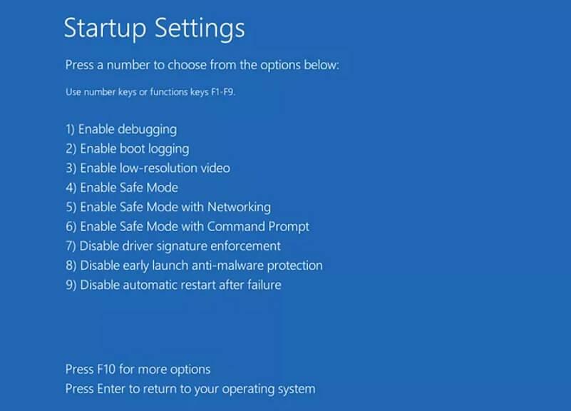 Windows 10 csökkentett mód indítása