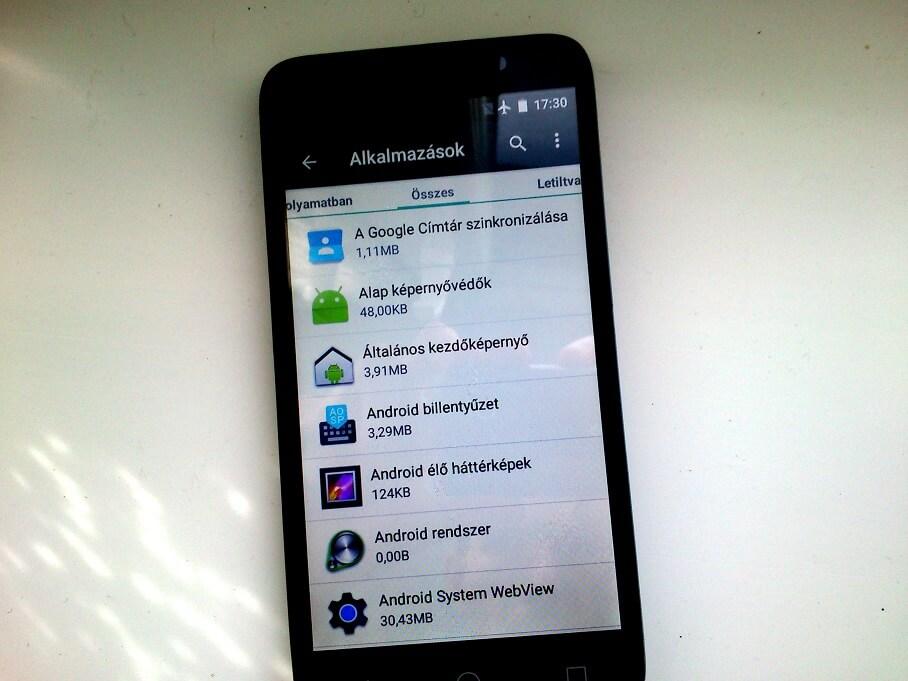 alkalmazások törlése android