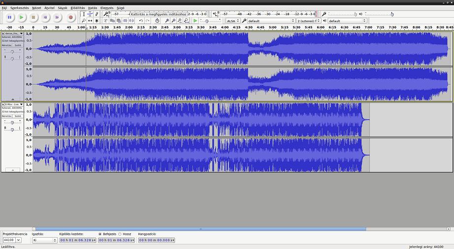 zene vágó program az audacity